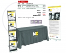 Economy Presentation Set, Banner stand, Table Cloth and Brochure Stand