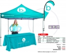 Ecomomy Canopy Kit. Tent, Windflag and Table cloth